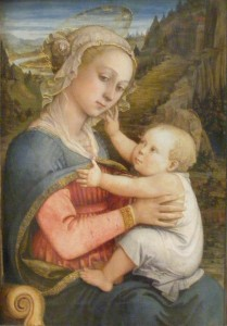 Fra Filippo Lippi, Madonna with Child on her lap